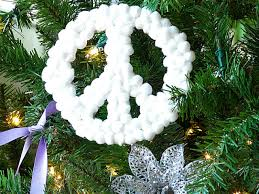 100 Outdoor Christmas Decorations Ideas To Make Use by How To Make Peace Sign Christmas Ornaments How Tos Diy