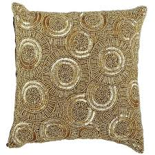 calico swirl beaded pillow gold welcome to my crib pinterest