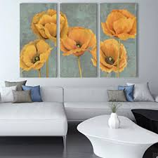 Fancy Design Yellow Flower Wall Art Or Isabella Ceramic Blossom Lily Multi Pastel Grey And Green Large