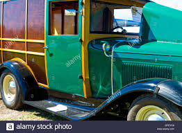 100 Woody Truck A Beautiful Green 1931 Ford Woody Panel Truck Hotrod Stock Photo