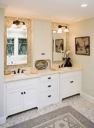 Bathroom Vanity With Tower Pictures by Narrow Bath Vanity Bathroom Traditional With Beige Countertop