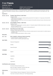 Substitute Teacher Resume: Guide With A Sample [+20 Examples] Substitute Teacher Resume Samples Templates Visualcv Guide With A Sample 20 Examples Covetter Template Word Teachers Teaching Cover Lovely For Childcare Skills At Allbusinsmplates Example For Korean New Tutor 40 Fresh Elementary Professional Fine Artist Math Objective Format Unique English 32 Ideas All About