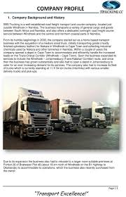 100 Overnight Trucking A Road Freight Transport And Courier Company Company Profile PDF