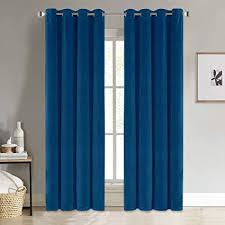 pony velvet vorhang blickdicht blau wohnzimmer gardinen für weihnachten hohe qualität samtige optik vorhänge für haus deko ösenvorhang 2er