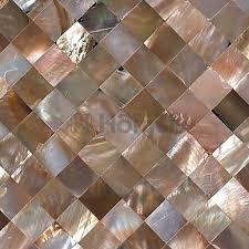 Free Shipping Natural Penguin Shell Seamless Mosaic Tiles Mesh Backing Kitchen Backsplash Shining Brown