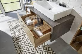 badmöbel set in eiche riviera und beton design