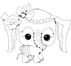 Click To See Printable Version Of Baby Elephant Girl Coloring Page
