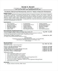 Master Plumber Resume Example Delicate Format Related To Amazing