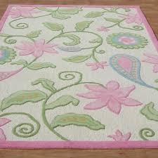 Modern Style Pink Floral Loop Woolen Area Rug ADC Rugs