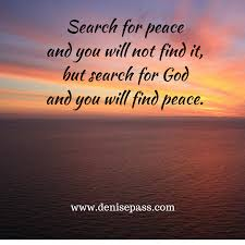 Finding Peace In God