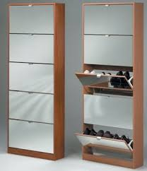 Simms Modern Shoe Cabinet Assorted Colors by Shoe Storage Cabinet With Mirror In Walnut Dressing Table