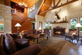 Choose Country Decorating Ideas For Living Room With Brown Leather Sofas And Oak Table On Wide