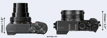Compare Panasonic TZ200 Vs LX100 Versus Top