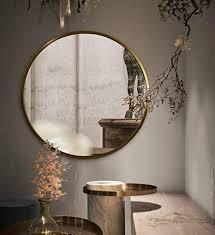 de runder spiegel gold metallrahmen wandspiegel