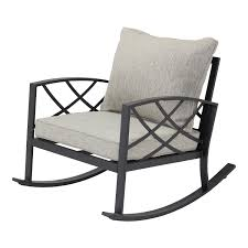 Better Homes & Gardens Bay Ridge Rocking Chair With Gray Cushions -  Walmart.com
