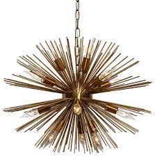 Light Up My Home Sunburst 14 Light Brass Chandelier View in