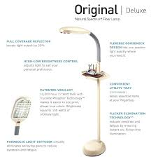 Verilux Floor Lamp Bulbs by Verilux Original Natural Spectrum Deluxe Floor Lamp With 27 Watt