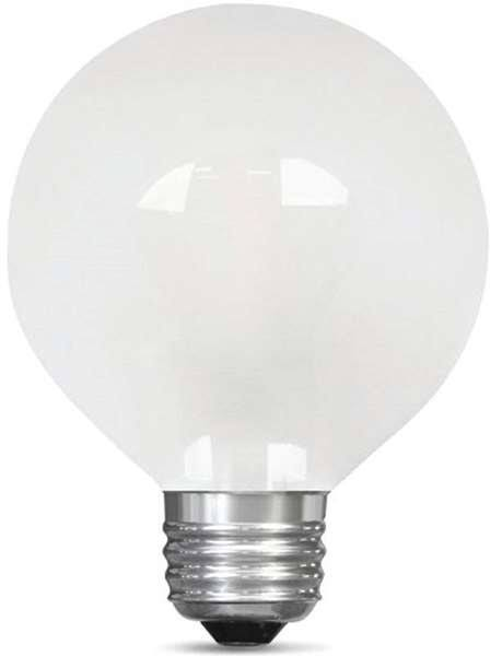 Feit Electric LED Globe G25 LED Light Bulb - Frosted, 4.5 W