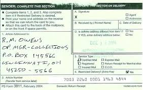 How To Send A Letter Certified Mail With Return Receipt Registered
