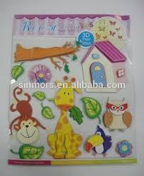 Giraffe Monkey Owl Tree Kids Room Decor 3D Sticker Chipboard Stickers