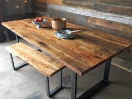 Diy Reclaimed Wood Table Top by Dining Tables Barn Wood Table Diy Reclaimed Wood And Steel