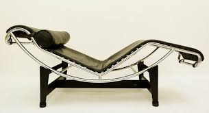 Le Corbusier Lounge Chair LC4 Black Leather For Cassina ...
