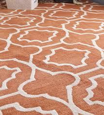 buy rust wool 96x60 inch morris tile carpet by obeetee