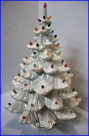 Vintage Atlantic Mold Ceramic Christmas Tree by 23 White Pearl Iridescent Ceramic Christmas Tree Atlantic Mold Style