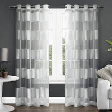 Geometric Pattern Sheer Curtains by Amazon Com Exclusive Home Curtains Navarro Burnout Sheer Grommet
