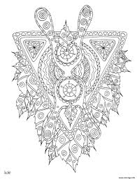Mythical Creature With Tribal Pattern Coloring Page Free Printable
