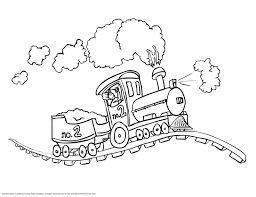 Free Printable Train Coloring Pages Template To Print