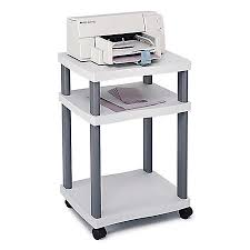 Safco Wave Deskside Printer Stand Gray by fice Depot & ficeMax