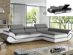 canapé gris et blanc pas cher canape droit pas cher maison design wiblia com