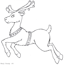 Rudolph Reindeer Coloring Page Christmas