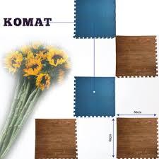 Interlocking Wooden Printing EVA Floor Mat Plastic Mats For Home