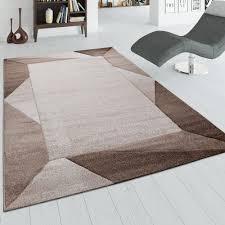 teppich wohnzimmer 3 d bordüre beige braun