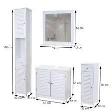 badezimmerset badmöbel set hochschrank waschbeckenunterschrank kommode wandspiegel landhaus weiss
