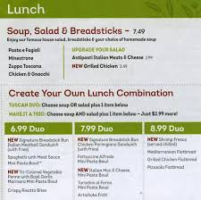 Olive Garden Menu Menu for Olive Garden Collegeville Montgomery