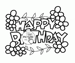 2080x1743 Cute Card Happy Birthday coloring page for kids holiday coloring