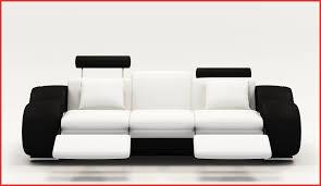 canapé cuir relax canaper noir et blanc 137267 canape cuir relax noir et blanc