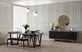 casa padrino luxus esszimmer set grau schwarz kupferfarben 1 esszimmertisch 4 esszimmerstühle 1 sitzbank luxus esszimmer möbel