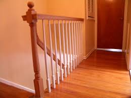 Wood Stairs And Rails And Iron Balusters: Wood Handrail ... Are You Looking For A New Look Your Home But Dont Know Where Replace Banister Neauiccom Replacing Half Wall With Wrought Iron Balusters Angela East Remodelaholic Stair Renovation Using Existing Newel Fresh Best Railing Replacement 16843 Heath Stairworks Servicescomplete Removal Of Old Railing Staircase Remodel From Mc Trim Removal Carpet Home Design By Larizza Chaing Your Wood To On Fancy Stunning Styles 556