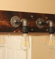 Rustic Cabin Bathroom Lights by Bathroom Diy Industrial Bathroom Lighting System Rustic Bathroom