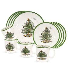 Spode Christmas Tree Mugs With Spoons by Spode Christmas Tree Holiday Dinnerware Silver Superstore