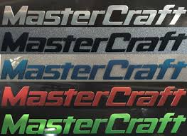 MasterCraft Raised Decals. Standard On All 2014-2016 MasterCraft Boats.
