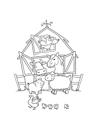 Farm Animal Coloring Page Chickens To Print And Color Preschool