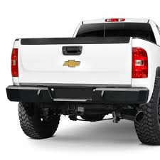 100 Iron Cross Truck Bumpers 2152507 Heavy Duty Series Full Width Black Rear HD
