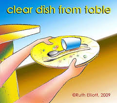 Clearing The Table Clipart