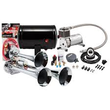 Compact Chrome Triple Truck Air Horn Kit - Kleinn Automotive ... Universal Fourtrumpet Air Train Horn Kit For Cartruckboat Truck Kit Two Trumpet 110 Psi 12v Dc Compressor Pssure Pair Loud 2 Big Rig Semi Air Horns Viair 150psi Sale Hornblasters Train Horn Install Truckin Magazine 12v Chrome Dual Trumpet Compressor Car Boat Wolo Mfg Corp Air Horns Horn Accsories Comprresors Lumiparty 178db Super Fort Double Trompette Voiture Azir 135db With Two Trumpets And Unique Bargains Sliver Tone Metal Lond Sound 3trumpet 150db 24v Auto Four 4 Alloy Tone Of Texas