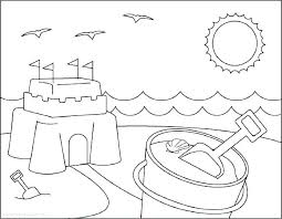Printable Summer Coloring Pages Pdf Beach Page Free